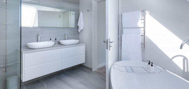 Een nieuw verbouwde badkamer