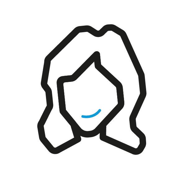 Icon van een tevreden klant